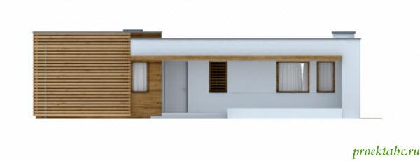 фасад проекта дома с плоской крышей