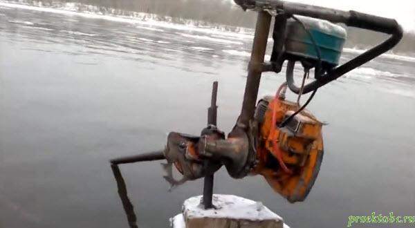 Мотор своими руками на лодку с бензопилы