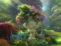 Цветущая в саду композиция