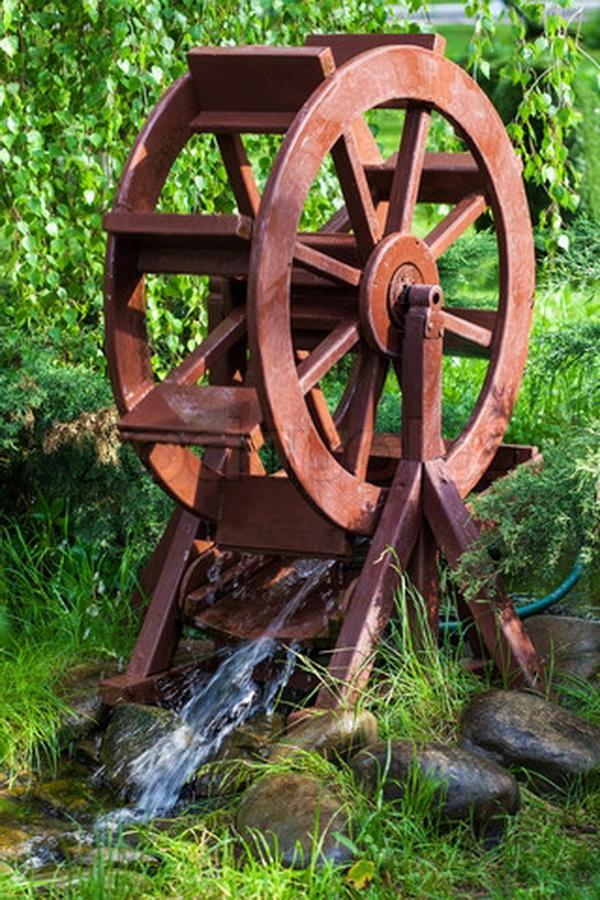 Водяная мельница своими руками фото