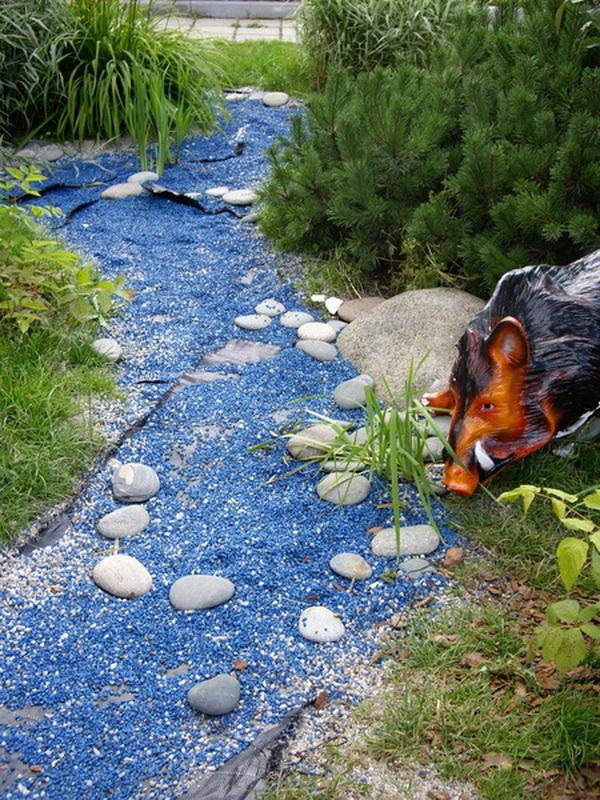 Имитация воды в сухом ручье