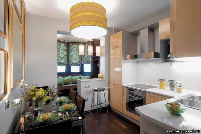 Балкон, объединенный с кухней