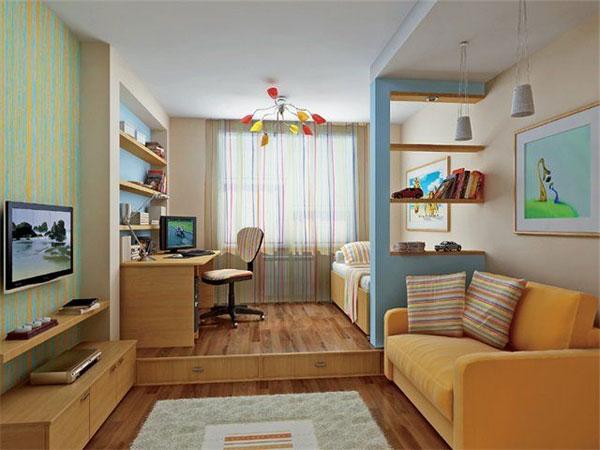 Дизайн прямоуголольной комнаты