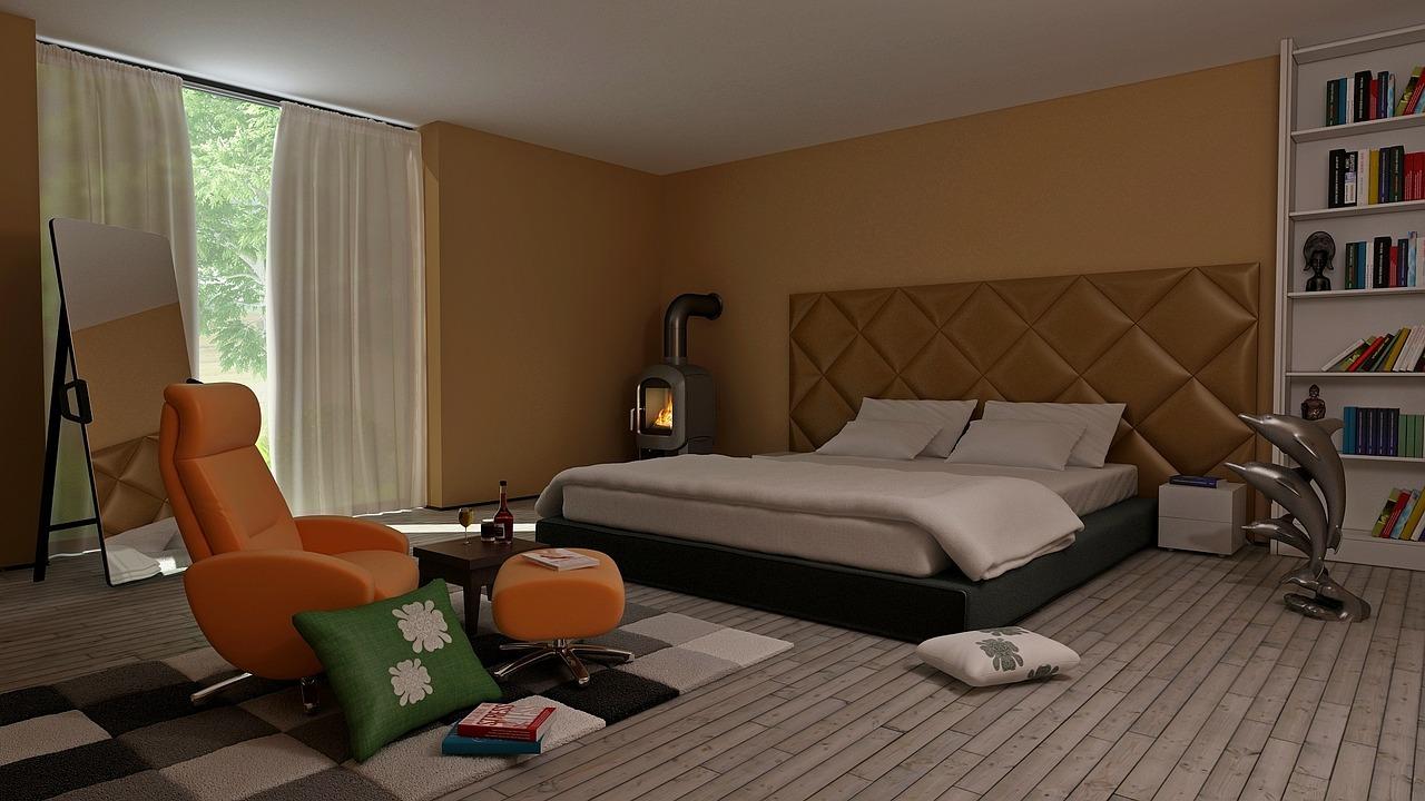 Кресло-качалка в спальне