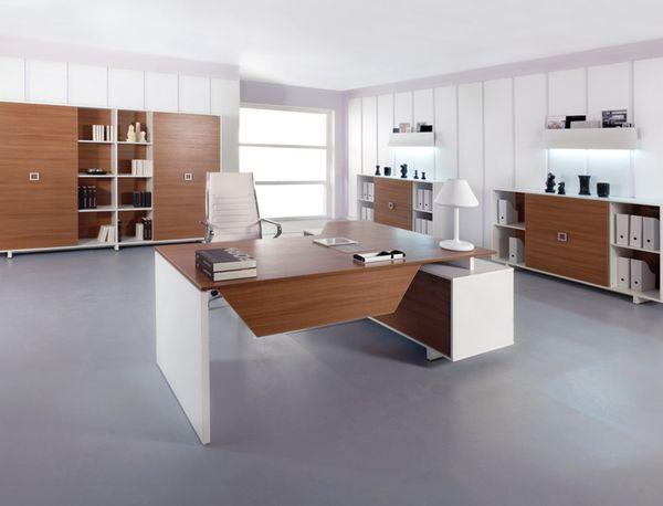 Дизайн рабочего кабинета в белых тонах