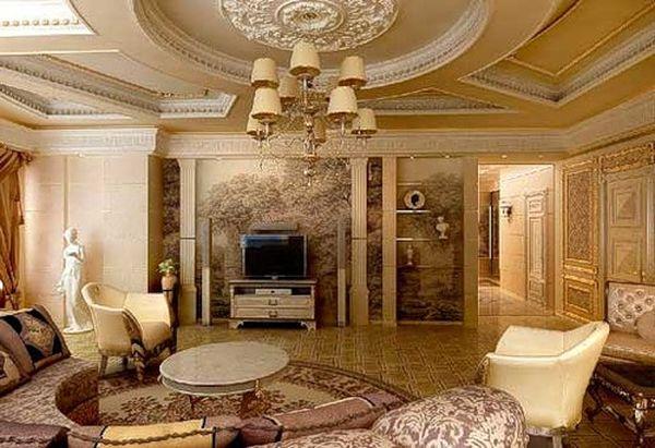 Дизайн гостиной в классическом стиле