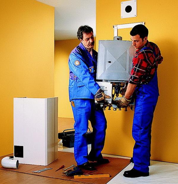 Монтаж электрокотла на стену помещения