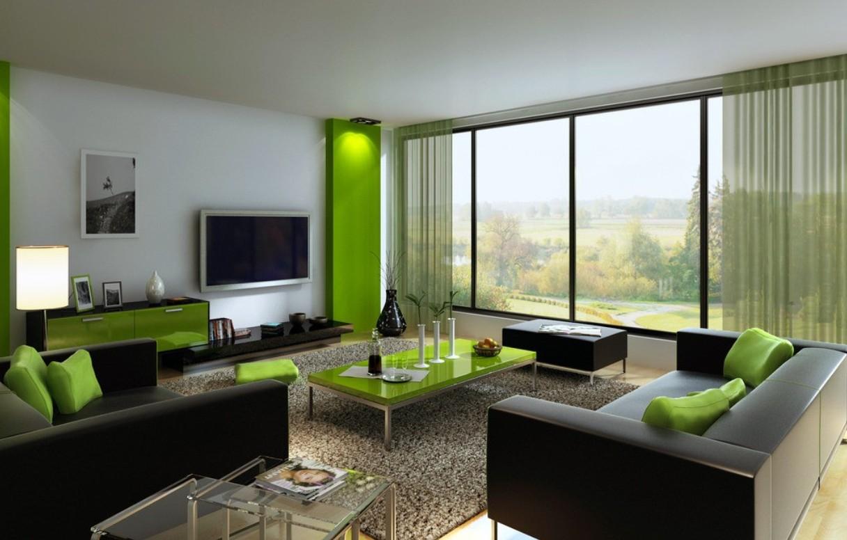 Интерьер в зеленых тонах фото