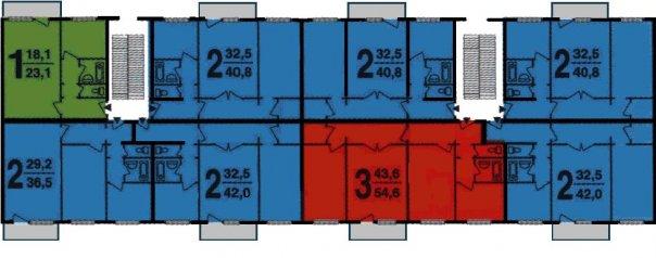 Типовая планировка 1605/5 - план с размерами.