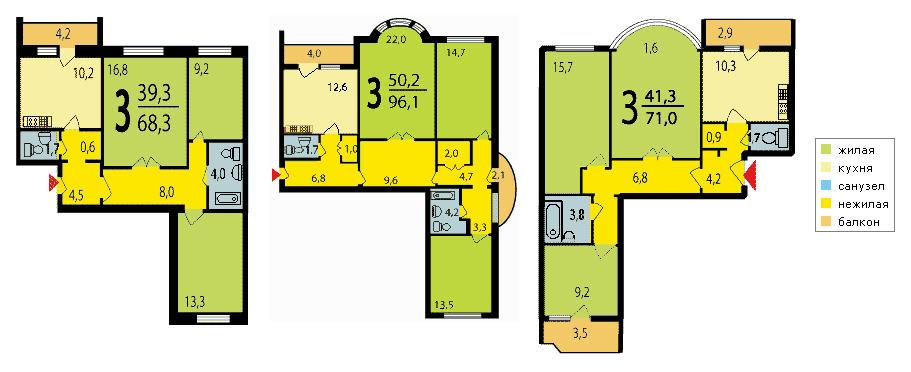 квартир домов серии И-155