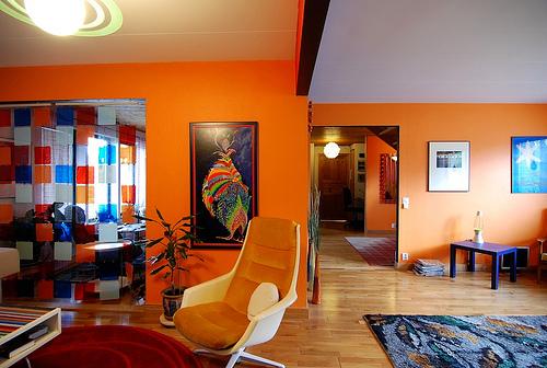 Дизайн интерьера в оранжевых тонах
