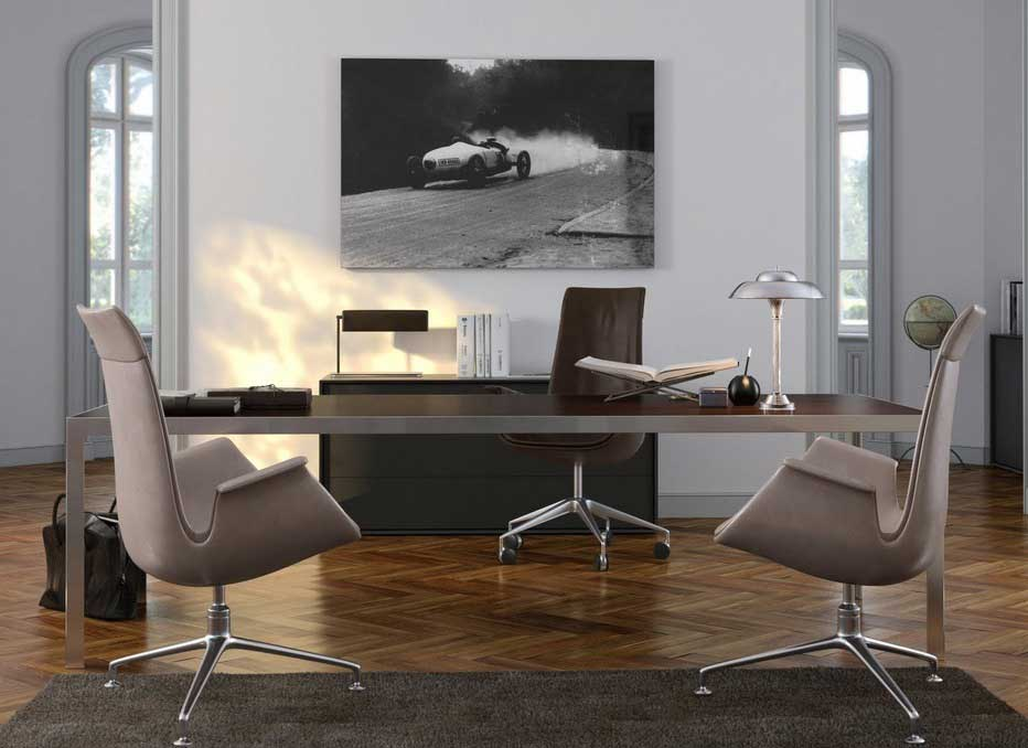 Дизайн кабинета в серых тонах