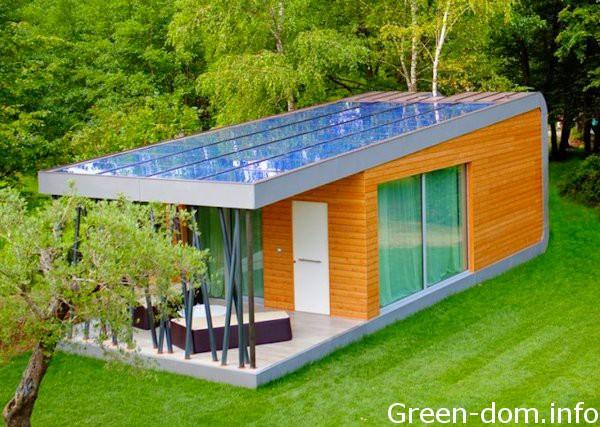 Солнечные батареи на плоской крыше