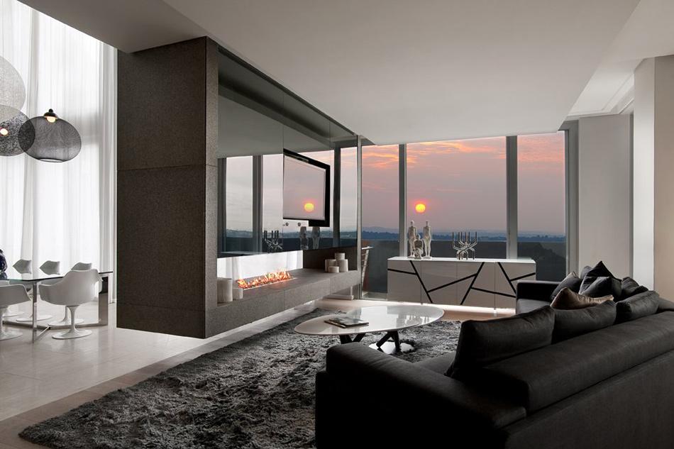 Дизайн жилой комнаты в современном стиле