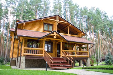 Пример рубленого дома