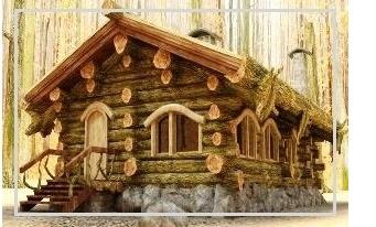 Строительство домов из окоренных бревен