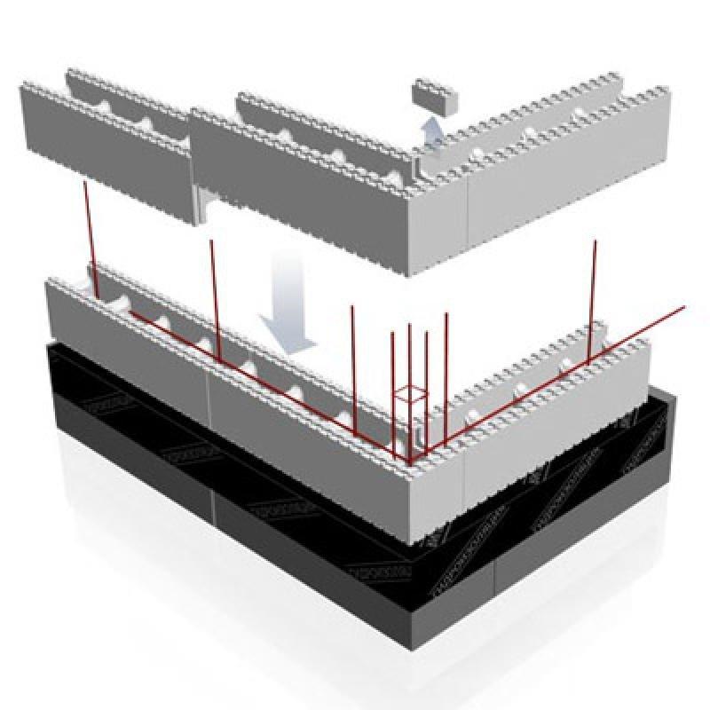 Схема строительства стен из деревобетона