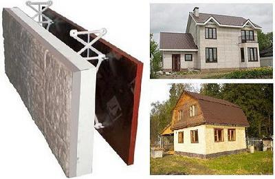 Строительство домов с применением несъемной опалубки и техноблоков
