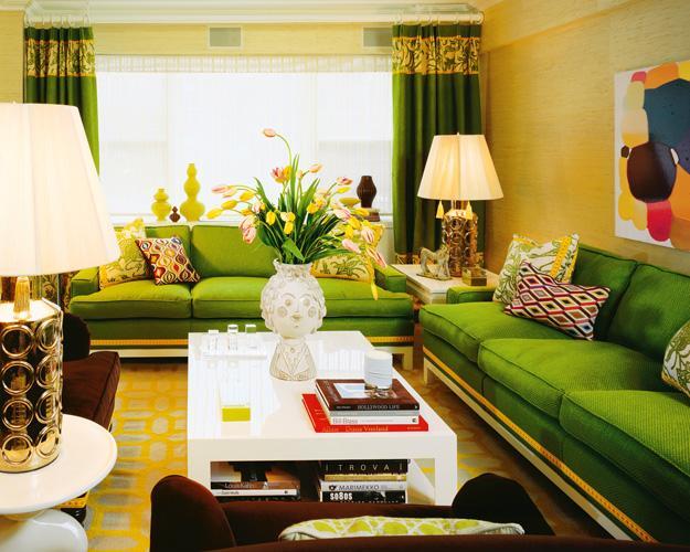 Дизайн гостиной комнаты в желтых тонах