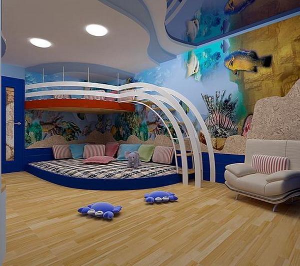Дизайн детской комнаты с применением жидких обоев