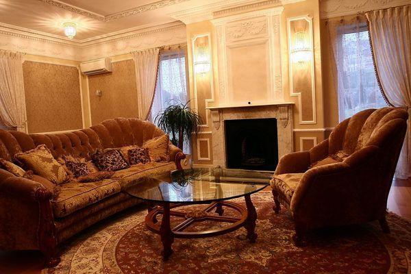 Интерьер гостиной в английском стиле