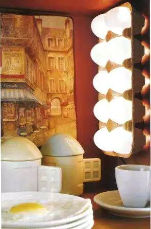 Кухонный светильник из яиц
