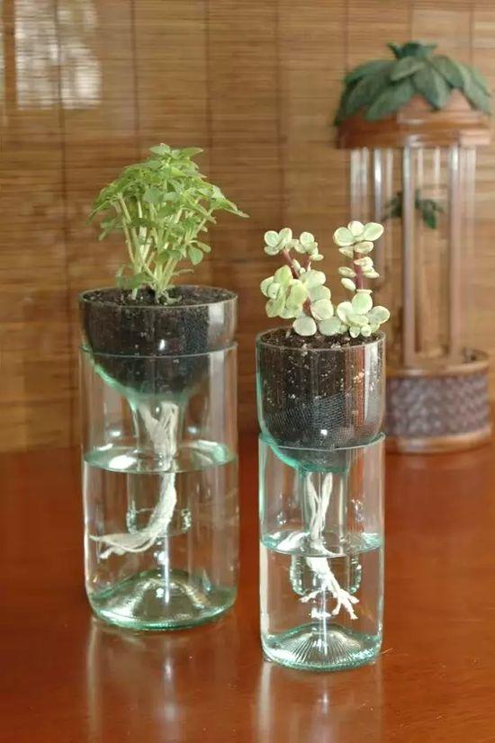 Кашпо из пластиковых бутылок своими руками для сада