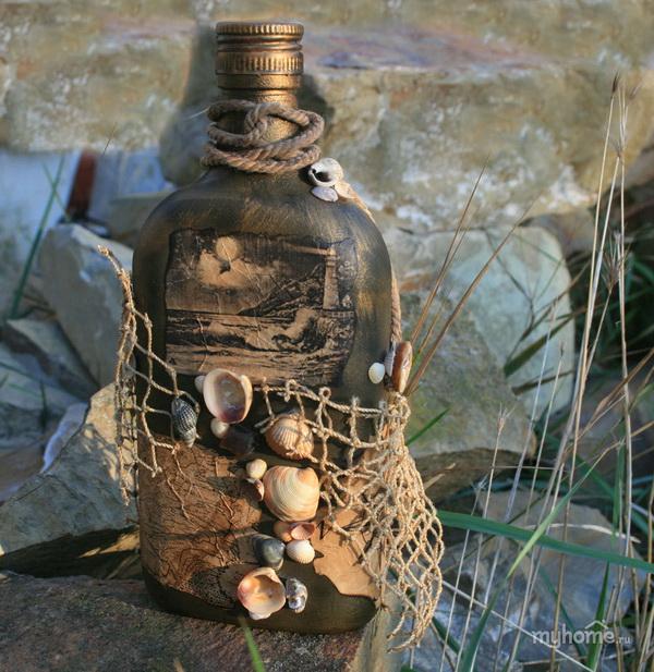 как сделать из бутылки рыбак
