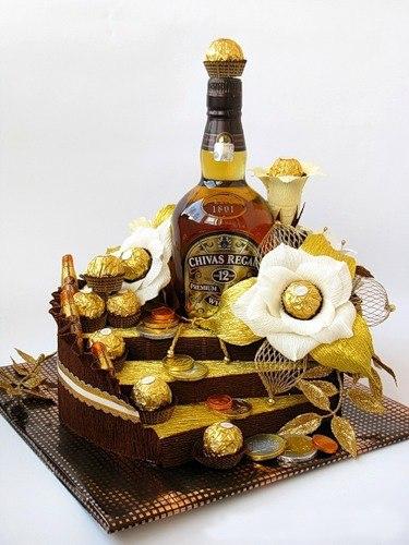 Декорированная бутылка - отличный подарок