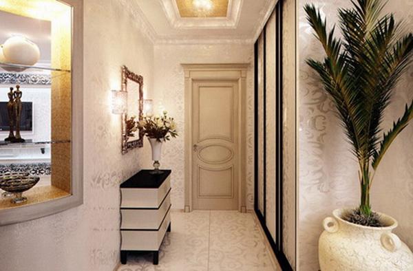 Освещение прихожей для маленького коридора