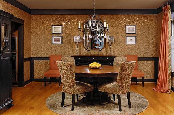 Пробковые обои в дизайне гостиной