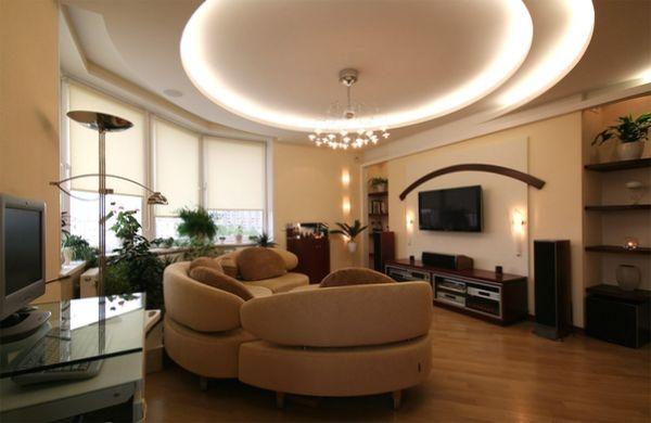 Дизайн обои зала в квартире фото