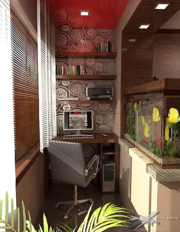 Интерьер маленького балкона