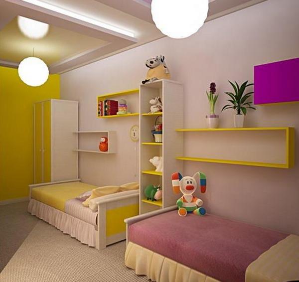 Детские комнаты для 2 девочек дизайн фото