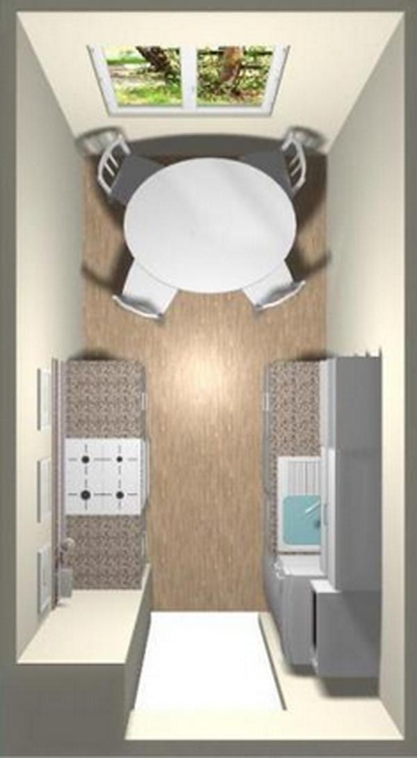 Дизайн кухни без шкафов