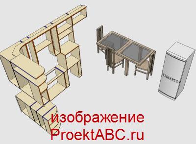 мебель в дизайне кухни
