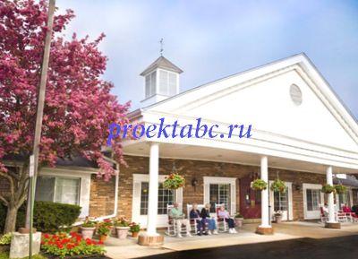 американский стиль фасада дома
