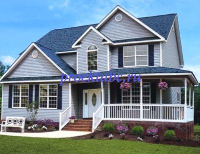 фасад дома в Америке