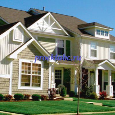 американский деревянный фасад дома