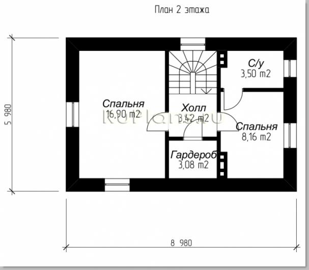 Дом 6 на 9 планировка двухэтажный фото
