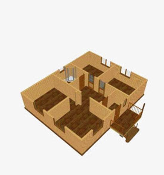 Дизайн интерьера кухни в доме из бруса