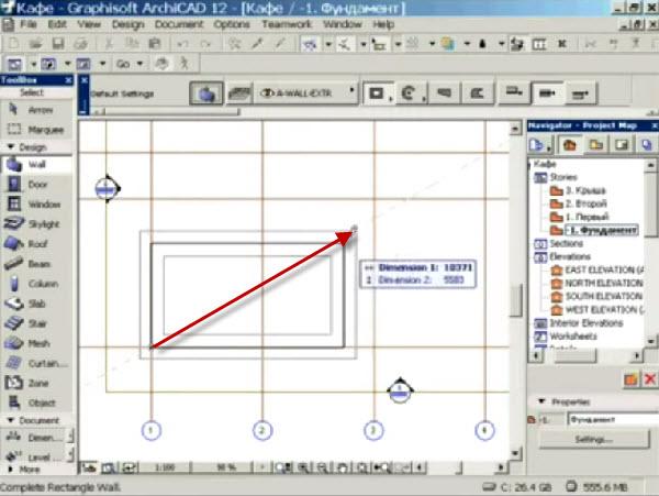 как чертить фундамент дома в ArchiCAD