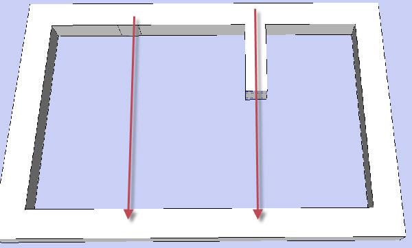 как чертить фундамент дома в sketchup