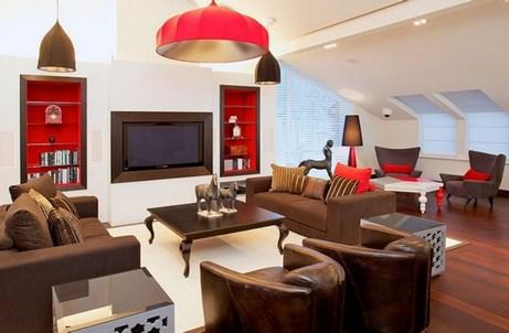 дизайн гостиной в кофейном цвете