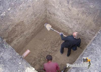 устройство канализационного колодца - выгребная яма