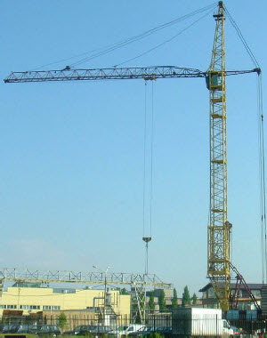 фото башенный кран кб 503