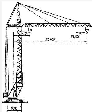 чертеж башенного крана кб 503