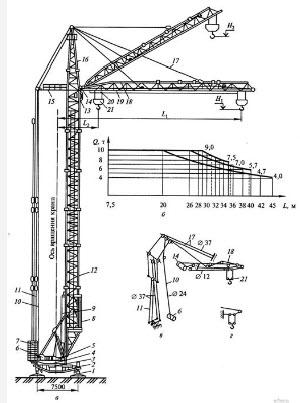 чертеж башенного крана кб 504