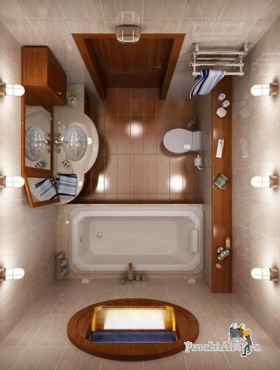 маленькая ванная комната решения