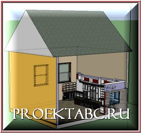 разрез модели дома